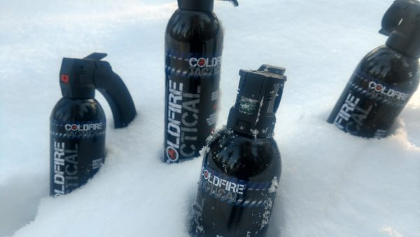Cold Fire Tactical cans in the snow